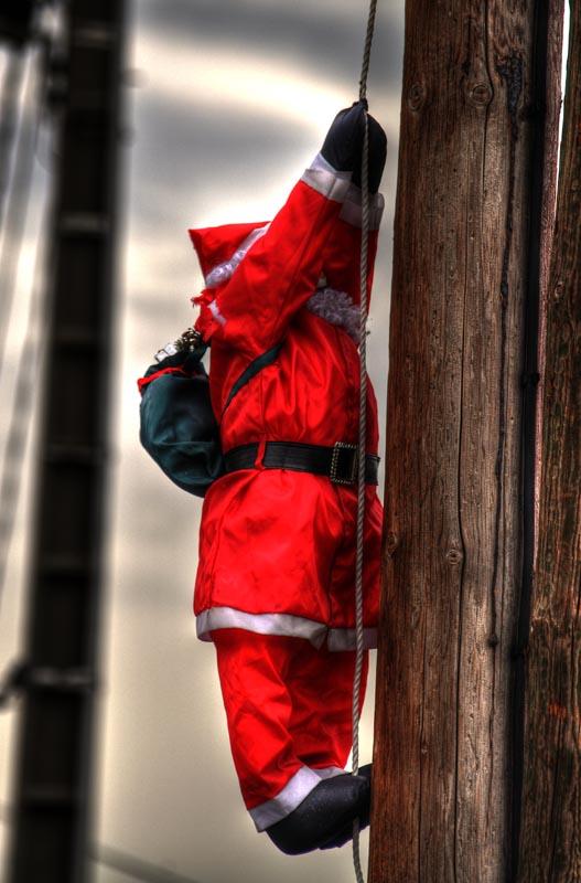 Babbo Natale sui balconi