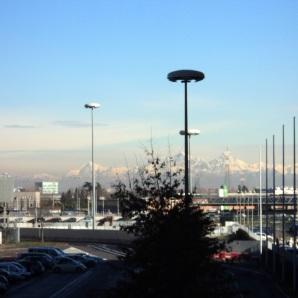 Milano con vista montagne