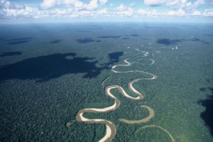 Rio Tamaya meanders through the Amazon lowlands. Foto ©WWF