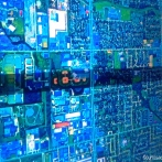 la città di Detroit vista dal satellite