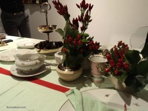 tavola vintage delle feste