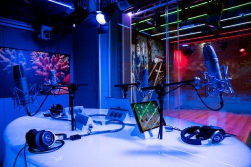 Gli studi di NSL Radio TV