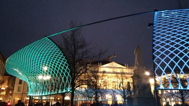 Luci led natalizie Piazza Scala Milano