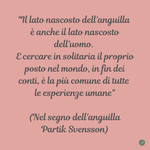 Nel segno dell'anguilla, libro di Patrik Svensson