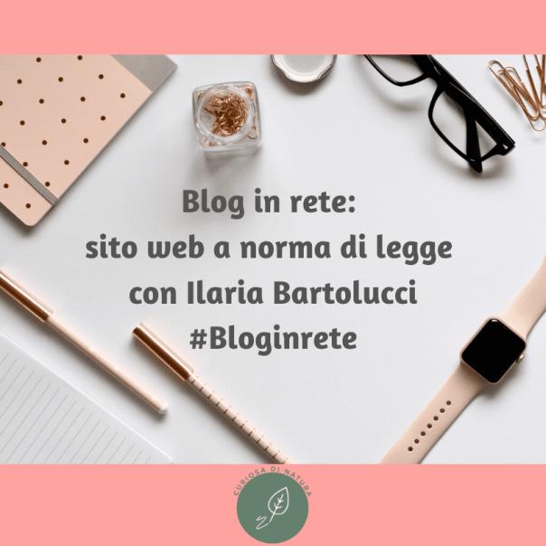 Blog in rete: sito web a norma di legge con Ilaria Bartolucci