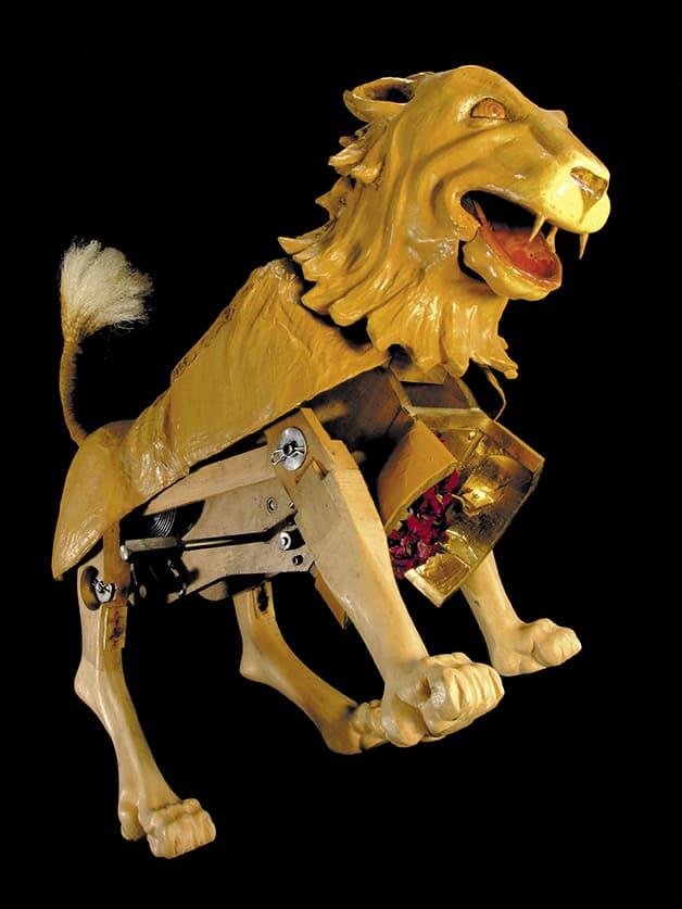 Ricostruzione funzionante del leone meccanico di Leonardo da Vinci 2005